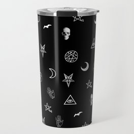Goth Symbols Pattern Travel Mug