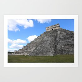 Chichen Itza Temple of Kukulcan south-west View Art Print