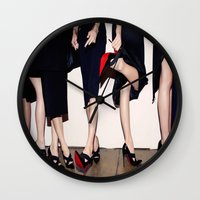 shoes Wall Clocks featuring Shoes by Aldo Couture
