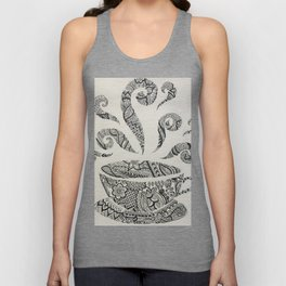But first, Tea - tea coffee lover zentangle Unisex Tank Top