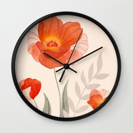 Summer Flowers II Wall Clock