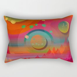 """Sci-fi Pop Landscape"" Rectangular Pillow"