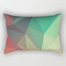 Geometric Low Polly Design Rectangular Pillow