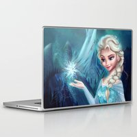 frozen elsa Laptop & iPad Skins featuring Elsa Frozen by Niniel