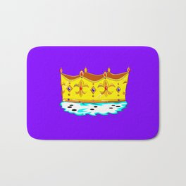 A Gold Crown with Ermine Fur Bath Mat