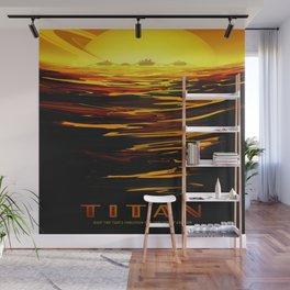 Titan : NASA Retro Solar System Travel Posters Wall Mural