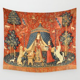 Lady and The Unicorn Medieval Tapestry Wall Tapestry
