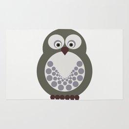 Gray Expectant Owl Rug
