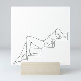 Female figure line drawing illustration - Sadie Mini Art Print