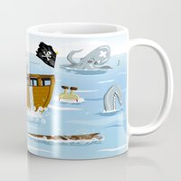 pirates Mugs featuring Pirates by modernagestudio