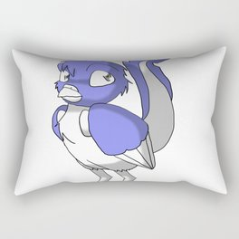 Lavender/Color-Or-Paint-Your-Own Reptilian Bird #ArtofGaneneK #Animal Rectangular Pillow
