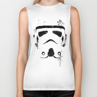trooper Biker Tanks featuring Trooper by Purple Cactus