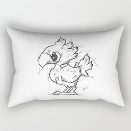 Chocobo Handmade Drawing, Made in pencil and ink, Tattoo Sketch, Final Fantasy Art Rectangular Pillow