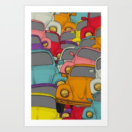 classic beetle Art Print