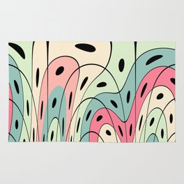 Wavy pastel shapes Rug