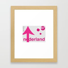 Netherlands stamp  Framed Art Print