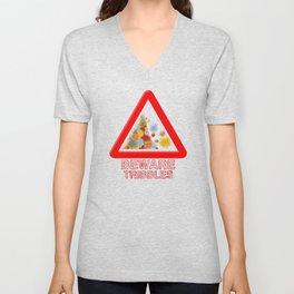 Warning tribbles Unisex V-Neck