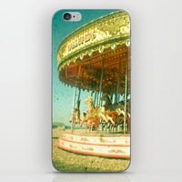 carousel iPhone & iPod Skins featuring Carousel by Cassia Beck