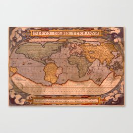 Typus Orbis Terrarum Old World Map Canvas Print