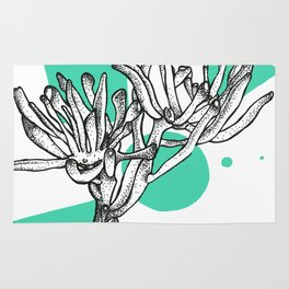 Jade Plant Print Rug