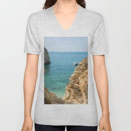 A small inlet suitable for swimming Unisex V-Neck