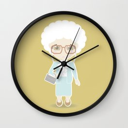 Girls in their Golden Years - Sophia Wall Clock