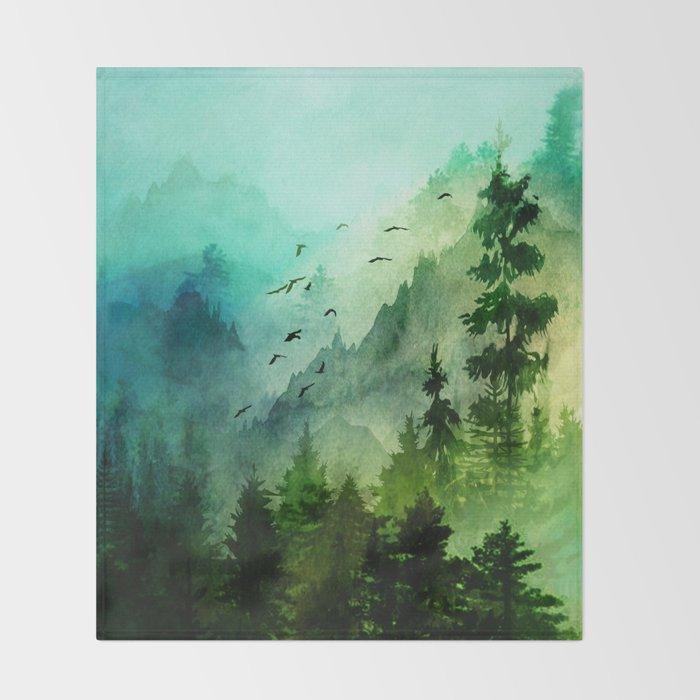 Mountain Morning Throw Blanket