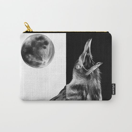 Crow and Full Moon Carry-All Pouch
