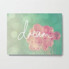 Pink Balloons Dream Metal Print