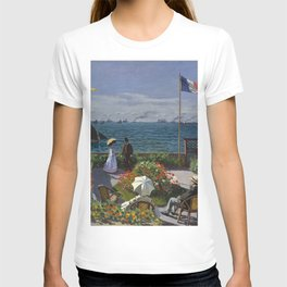 Garden at Sainte-Adresse by Claude Monet T-shirt