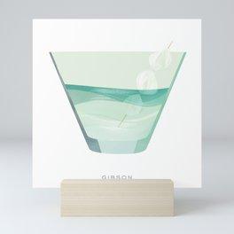 Cocktail Hour: Gibson Mini Art Print