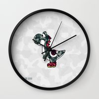 yoshi Wall Clocks featuring Yoshi  by Adel