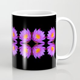 Purple Lily Flower - On Black Coffee Mug