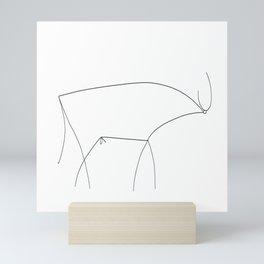 Picasso Line Art - Bull Mini Art Print