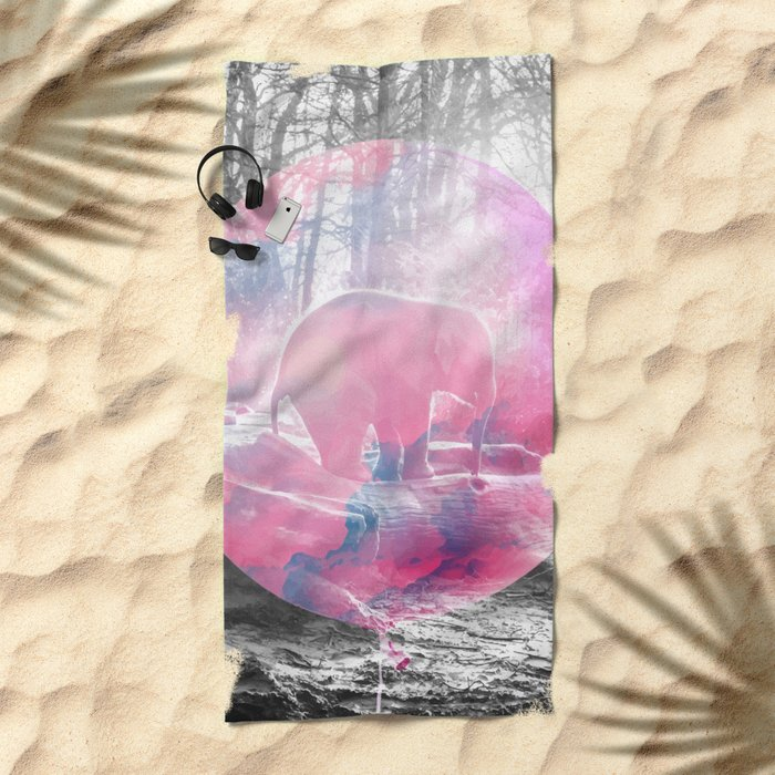 Baby Elephant in a Balloon #society6 #buyart #decor Beach Towel