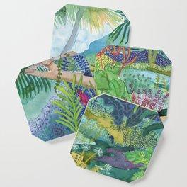 Jungle Paradise Watercolor Coaster