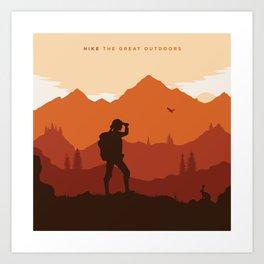 Hike The Great Outdoors Art Print