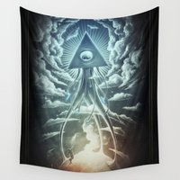 dead Wall Tapestries featuring War Of The Worlds I. by Dr. Lukas Brezak