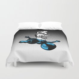 Checkmate / Chess king knocking out opponent Duvet Cover