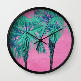 Up in the Palm Trees Wall Clock