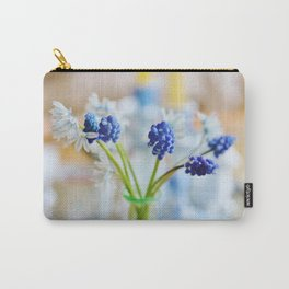 Blue and white spring lily Carry-All Pouch