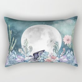 Desert Nights Gemstone Oasis Moon Rectangular Pillow