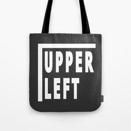 Upperleft Gray Tote Bag