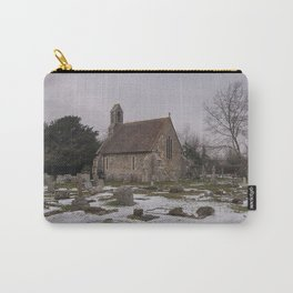 Seasalter Old Church In Winter Carry-All Pouch