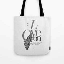 You Complete Me II - LOVE #society6 #love #buyart Tote Bag