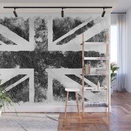 Black Grunge UK Flag Wall Mural