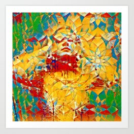 6759s-KMA The Woman in the Stained Glass Sensual Feminine Energy Emerging Art Print
