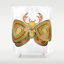deer moth Shower Curtain