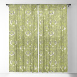 Tigers in Green Sheer Curtain