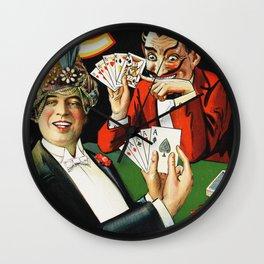 Carter The Great Magician Poster Wall Clock